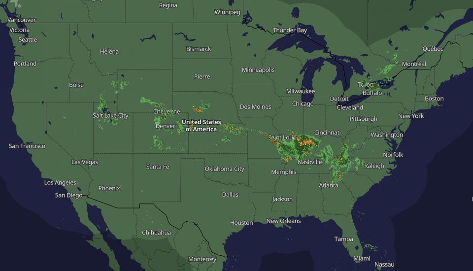 United States weather radar